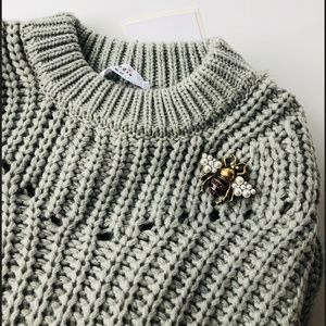 Cozy Elodie Open Stitch Pullover Sweater XS/S